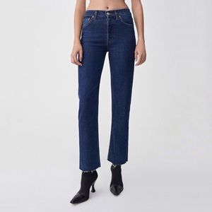 [Re/Done] NWT High Rise Stove Pipe Jeans